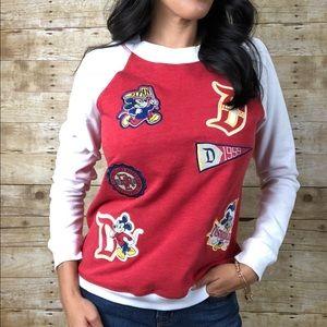 Disneyland Mickey Patch Raglan Sweatshirt